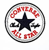 コンバース ALL STAR CONVERSE ALL STAR Funny patch Embroidered Iron on Hat Jacket Hoodie Backpack Ideal for Gift /7.3cm(w) X 7.3cm(h) by Think Patch Funny Patch
