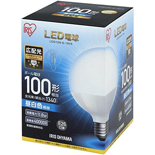 アイリスオーヤマ LEDボール球 口金直径26mm 100W...