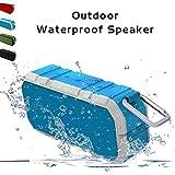 ワイヤレス Bluetooth 4.2 スピーカー 【IP68防水認証 / 屋外 アウトドア対応 ポータブル 外装 / 10W 高音質 / マイク内蔵 / TF カード対応】 (オリーブグリーン) (ブラック)