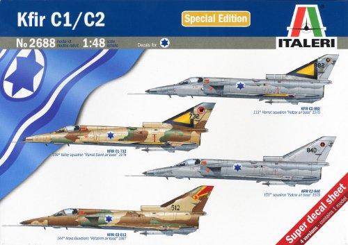 タミヤ イタレリ 1/48 飛行機シリーズ 2688 イスラエル軍 クフィール C1/C2 38688