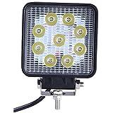 (スタンセン) Stansen LEDワークライト オフロード 作業灯 CREE製 27W 2430LM 9連10-30VDC対応(12V/24V兼用)広角 防水 [並行輸入品]