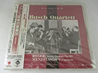 String Quartet Op.109, Etc.: Busch Quartet