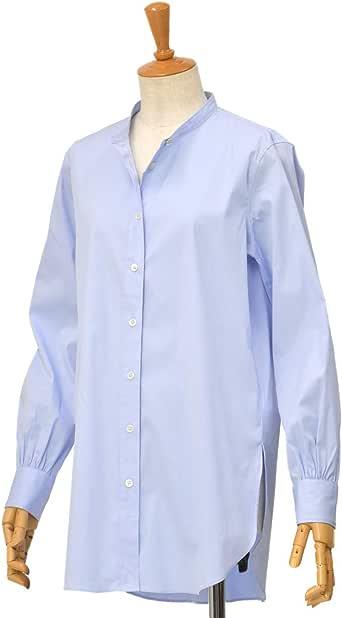 [Bagutta【バグッタ】]バンドカラーシャツ G_LERA CN0672 152 コットン ナイロン ブルー(S)