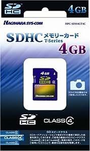 ハギワラシスコム SDHCカード 4GB CLASS4対応 Tシリーズ HPC-SDH4GT4C