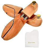 [アールアンドケイズカンパニー] シューツリー シューキーパー 木製 靴磨きクロス付き (24.5-25.5cm)