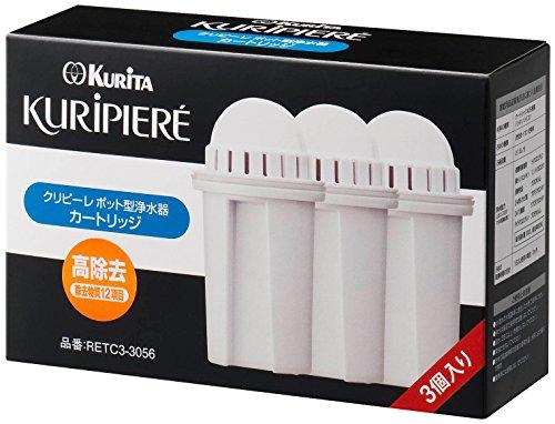 クリタック ポット型浄水器 クリピーレTR カードリッジ3P RETC3-3056...