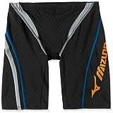 MIZUNO(ミズノ) レース用競泳水着 メンズ ストリームアクティバ ハーフスパッツ FINA承認 N2MB604298 サイズ:XL ブラック×シルバー