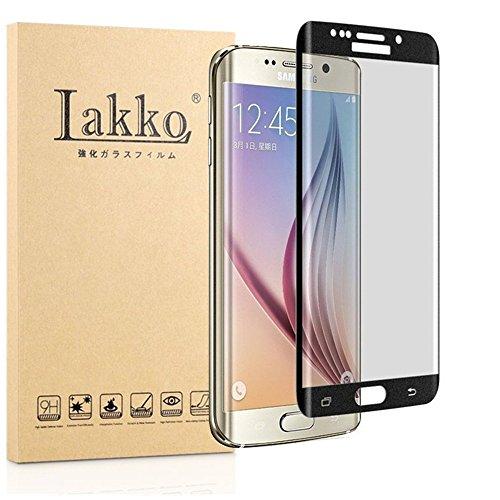 Galaxy S6 edge ガラスフィルム S6 edge フィルム 専用 3D 全面 5.1インチ softbank au SCV31 docomo SC-04G フィルム Samsung ギャラクシー S6 エッジ 液晶保護フィルム 木箱 国産強化ガラス素材 黒