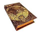 レトロなアンティーク調ブックボックス(木製収納箱) 世界地図