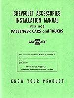 1953Chevrolet車トラックアクセサリーインストールサービスマニュアル指示Book