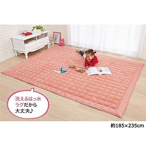 ふんわりマイクロキルティングラグマット 【長方形 130cm...
