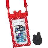 ディズニー iPhone 防水ケース IPX8 スマホ iPhone6s iPhone6 iPhone5s / レッド