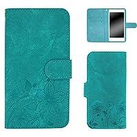 whitenuts Galaxy S8 Plus SCV35 ケース 手帳型 エンボスデザイン ターコイズ/桔梗 スマホケース 手帳 WN-OD127998_LL