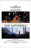 映画の金属看板 ティンサイン ポスター / Tin Sign Metal Poster of Movie The Impossible #5