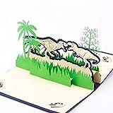 Paper Spiritz 恐竜 誕生日カード 男の子 立体 ポップアップカード お祝い 招待状 3D 手作り 子供 感謝カード