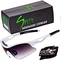 Spits Eyewear タイムトライアルバイフォーカル 拡大 ランニング サイクリング サングラス ホワイトフレーム 2.00