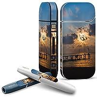 iQOS COMPLETE アイコス 専用スキンシール 全面セット サイド ボタン スマコレ チャージャー カバー ケース デコ 写真 海 空 013534