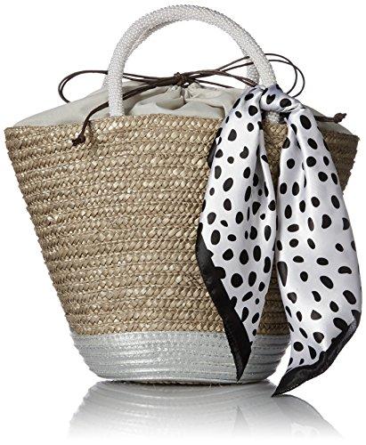 [カシュカシュ]スカーフ付きパールハンドルかごバッグカゴバッグ01-00-50910GRYグレー