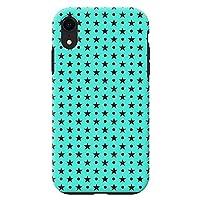 iPhoneXR iPhoneケース (ハードケース) [耐衝撃/薄型/高品質プリント] Dots(M/W) CollaBorn