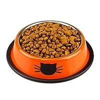 ACHICOO 運動ボール ステンレス鋼 プリント 円形 ランニング ボール おもちゃ 猫 犬 ペット用品 ギフト Orange 11.5*15.5*3.5CM