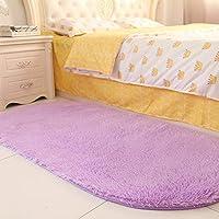 80 * 160cmの居間のコーヒーテーブルのエントランスホール、寝室のベッドの前部、楕円形のベッドサイドの毛布、ベッドの前部ベッドの毛布(色:紫)