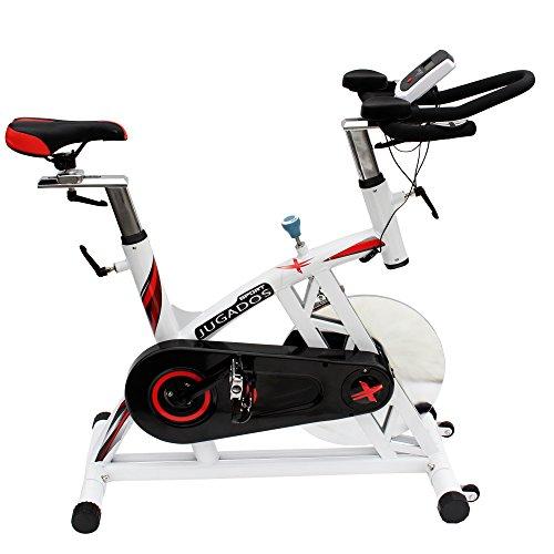 HAIGE フィットネスバイク スピンバイク HG-YX-5002 自宅でガッツリトレーニング カラー:ホワイト