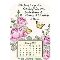 ミニマグネットカレンダー、かわいい蝶。