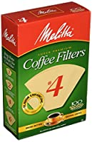 Melitta Super Premium Coffee Filters, Naturan Brown, No. 4, 100-Count Filters by Melitta