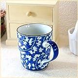 ブルーレトロマグカップ カップ 和風 染付 コーヒー 紅茶 和食器 美濃焼