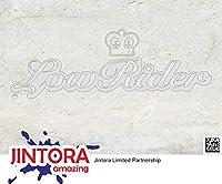 JINTORA ステッカー/カーステッカー - LOW RIDER 2 - ローライダー2-190mm x66mm - JDM/Die cut - 車/ウィンドウ/ラップトップ/ウィンドウ- お金