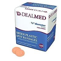 Dealmed Flexible Adhesive Sheer Spot Bandages, 7/8, 100 Per Box (Pack of 2) by dealmed