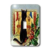 3drose LLC lsp _ 9227_ 1Merry Christmas Cat 1910単一切り替えスイッチ