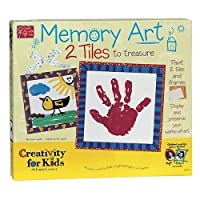 Creativity For Kids Memory Art 2 Tiles to Paint and Frame
