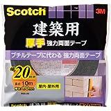 3M スコッチ  建築用厚手強力両面テープ PBA