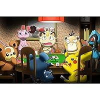 木製パズル、大人のパズル減圧玩具漫画ピカチュウ日本アニメ壁の装飾絵画300/500/1000 p 628-PT (Color : C, Size : 1000p)