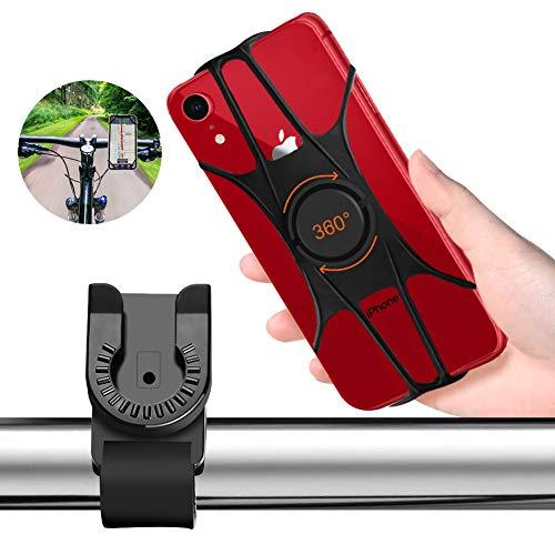 自転車ホルダー Turnraiseオートバイ バイク 自転車 スマホ ホルダー 360度回転 角度調整 脱着簡単4-6.5インチiPhone7 8 X xperia sony samsung android全機種対応 携帯電話GPSナビ固定用 ブラック