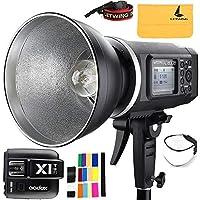 """Godox ad600b TTL Bowen Mount gn87600W HSS 1/ 8000s 2.4Gワイヤレスwith 8700mAhリチウムバッテリーアウトドアStudioストロボフラッシュ、Godox x1t-fフラッシュトリガーfor Fujiカメラ、32"""" 5- in - 1反射板"""