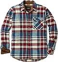 CQR ネルシャツ カジュアル 長袖 シャツ チェックシャツ 男女兼用 アウトドア 登山 ゴルフウェア アメカジ メンズ HOF110-VWN_M