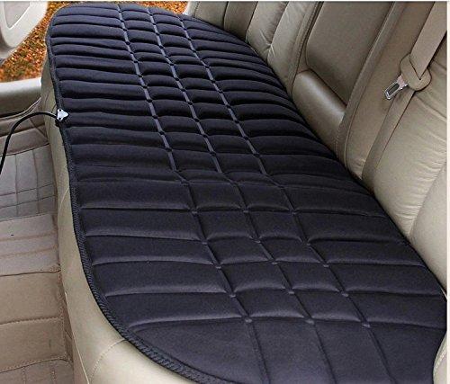 Leacree 12V車用ホットシートヒーター 座席用ホットシート(後部座席) 温度調節 強 弱 調節可能 シンプルなデザイン カー用品 車載 簡単着脱 …