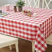 格子状のテーブルクロス布、ゴージャスの長方形のテーブルテーブルテーブルテーブル大红色格子 圆形200cm