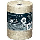 コクヨ 麻紐(ホビー向け) ホワイト色 480m巻 チーズ巻き ホヒ-35W Japan
