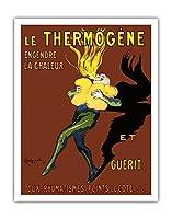 Thermog?ne - 熱と治療を生み出す:咳、リウマチ、側痛 - ビンテージな広告ポスター によって作成された リオネト・カピエロ c.1909 - アートポスター - 28cm x 36cm