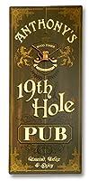THOUSAND OAKS BARREL パーソナライズ 19th Hole ヴィンテージスタイルサイン
