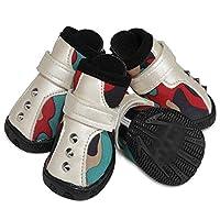JPAKIOS ペット用品犬の靴滑り止めの靴ファッションダイビング素材ペットの靴 (Color : レッド, サイズ : 1#)