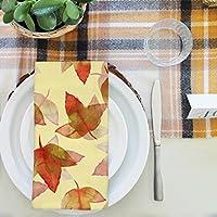 artzfolio Autumn Leaves 3テーブルナプキンサテン生地 16inch x 16inch; SINGLE PIECE AZKIT45242232NAP_TB_L_01-S1_SN