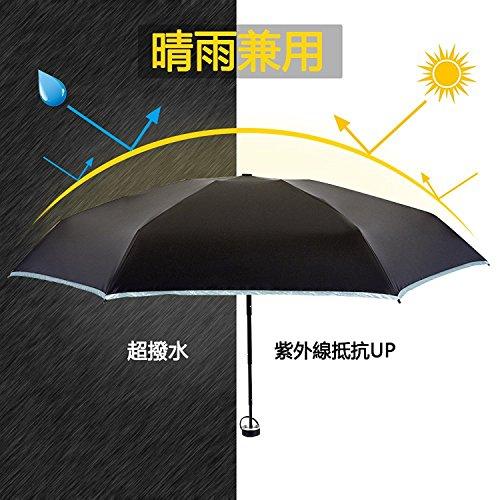 日傘 Bodyguard 折り畳み傘 レディース 晴雨兼用 超軽量 超精巧 超遮光 紫外線カット 遮熱 涼しい 丈夫 耐風撥水 人気 おしゃれ 収納ポーチ付き 日本国内品質保証 (ブルー)