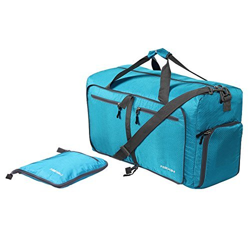 HEXIN Men Women Carry on Duffel Bag Lightweight Luggage Travel Bag Duffle Weekend Gym Bag Blue