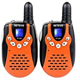 Retevis RT-602 Kids Walkie Talkies Rechargeable 22 Channel FRS/GMRS UHF 462.5625-467.7250MHz 2 Way Radio for Kids (Orange 1 Pair) [並行輸入品]