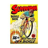 Comic Schwinn Bicycle Book Speed Record Bike Race USA Wall Art Print 漫画自転車本自転車レースアメリカ合衆国壁
