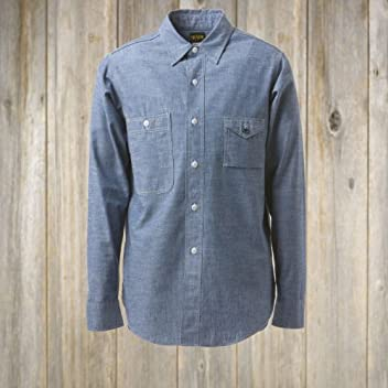 Big Yank 1950s Chambray Work Shirt 560-471-11: Indigo